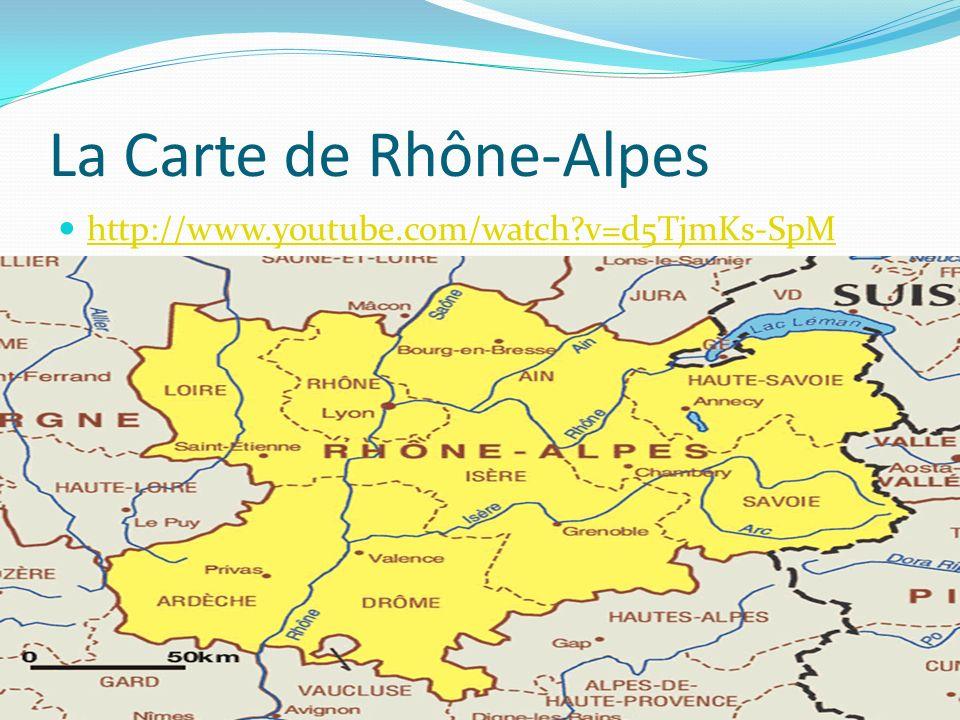 La Carte de Rhône-Alpes