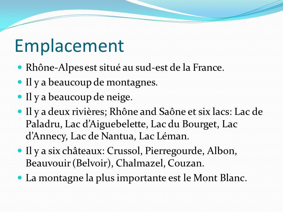 Emplacement Rhône-Alpes est situé au sud-est de la France.