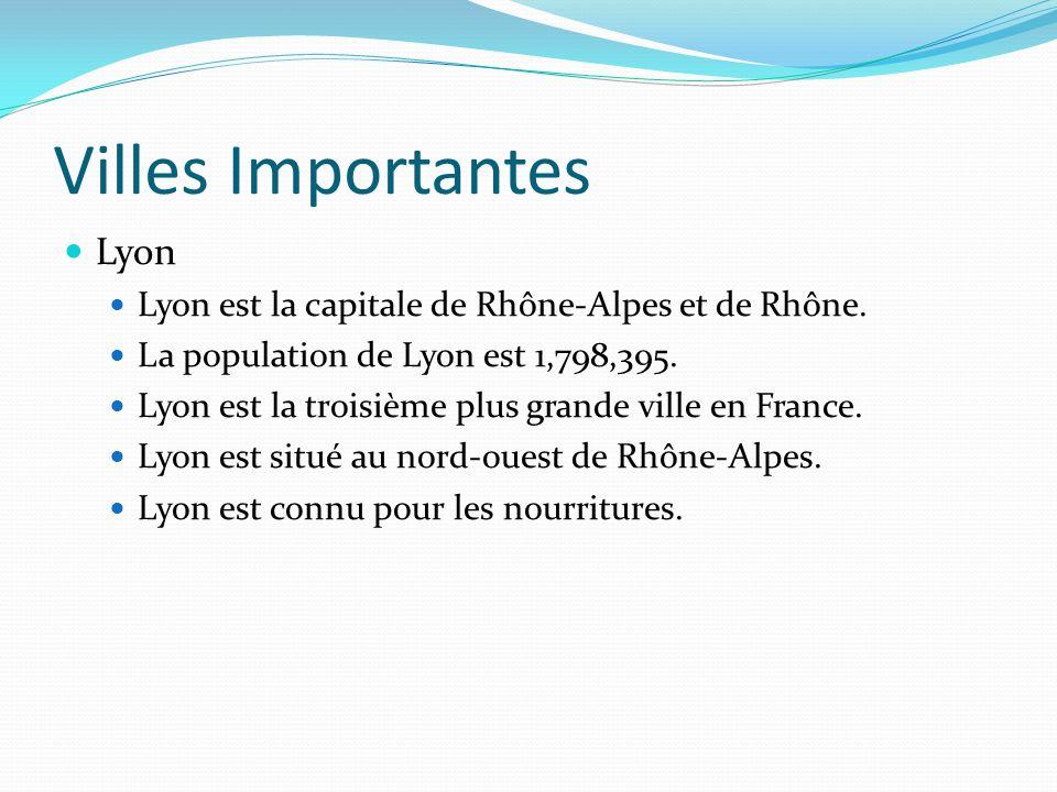 Villes Importantes Lyon