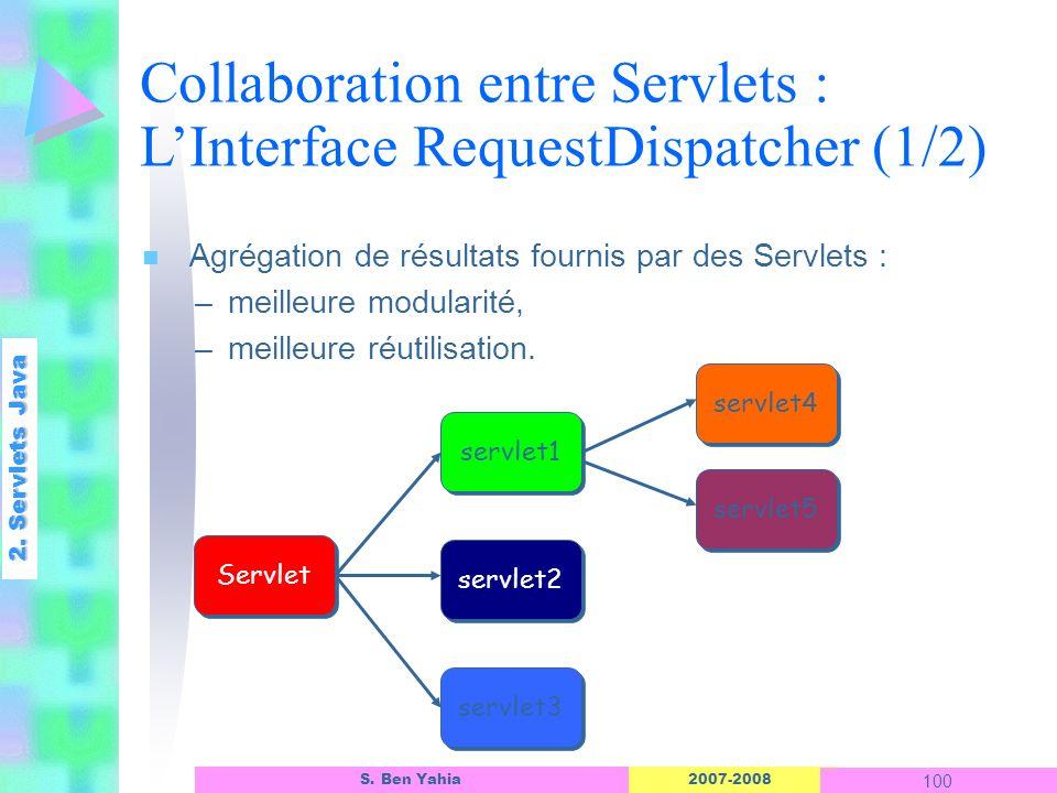 Collaboration entre Servlets : L'Interface RequestDispatcher (1/2)