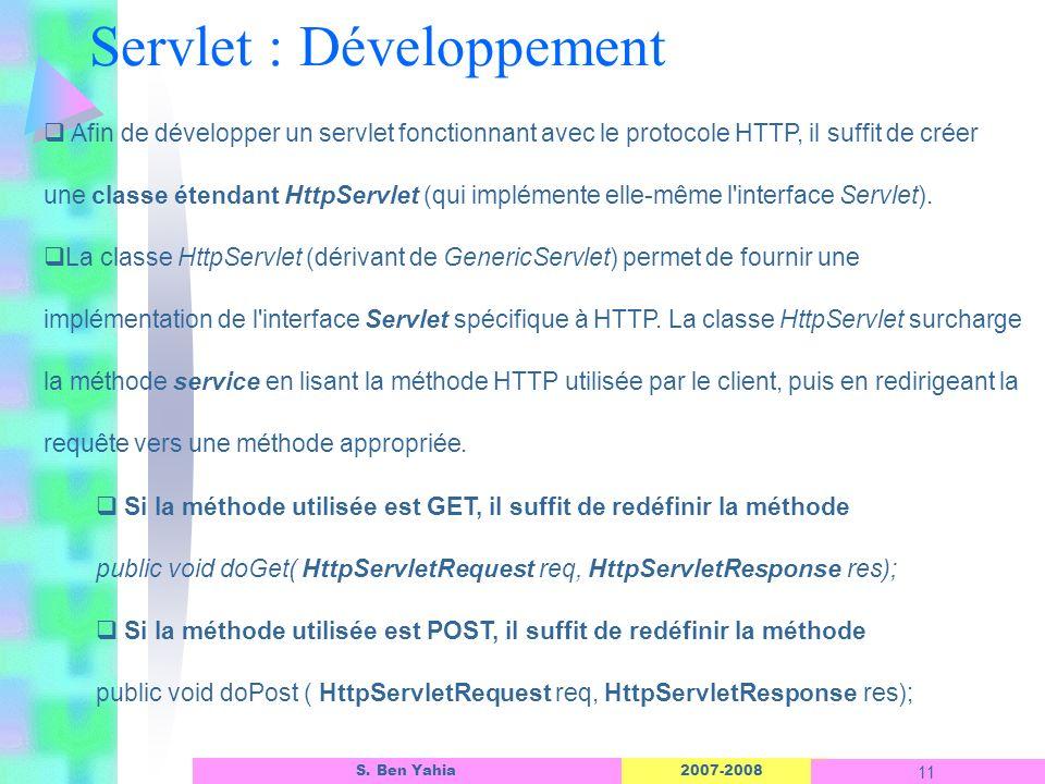 Servlet : Développement