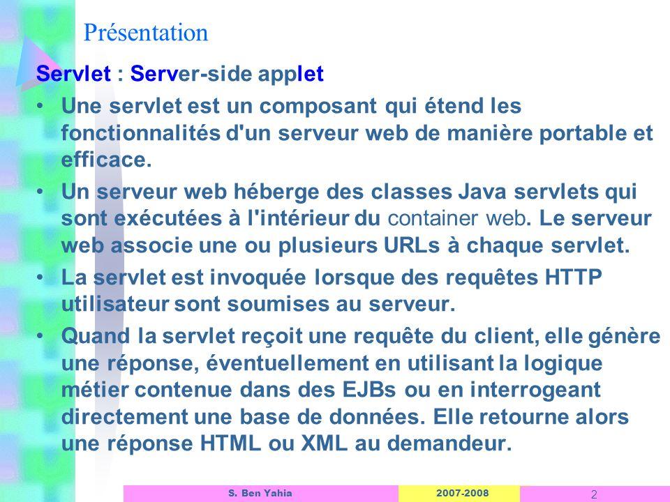 Présentation Servlet : Server-side applet