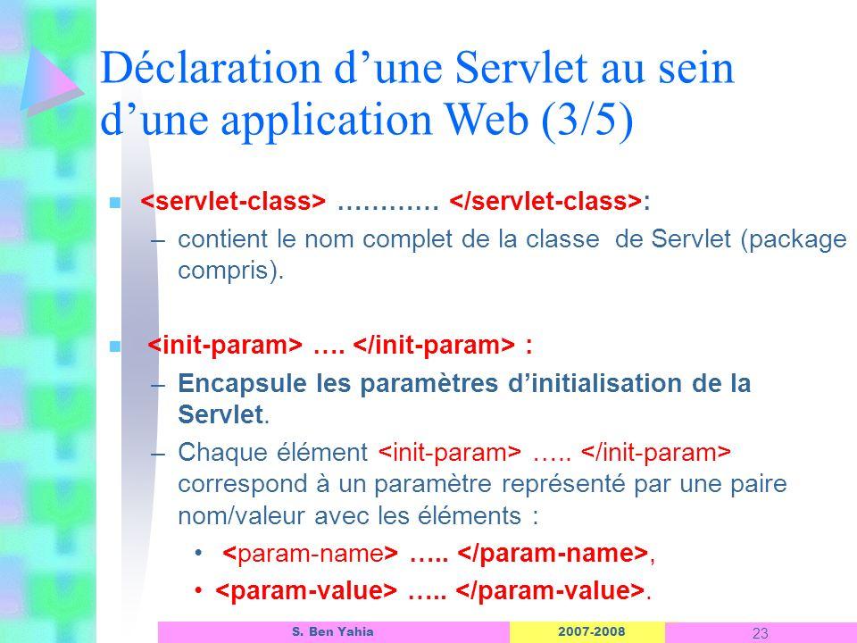 Déclaration d'une Servlet au sein d'une application Web (3/5)