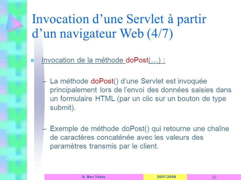 Invocation d'une Servlet à partir d'un navigateur Web (4/7)