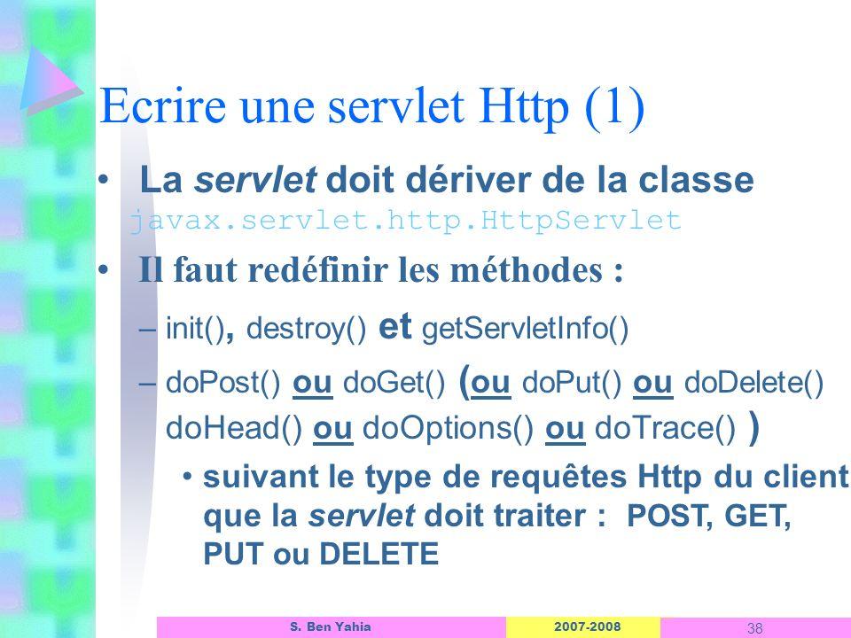 Ecrire une servlet Http (1)