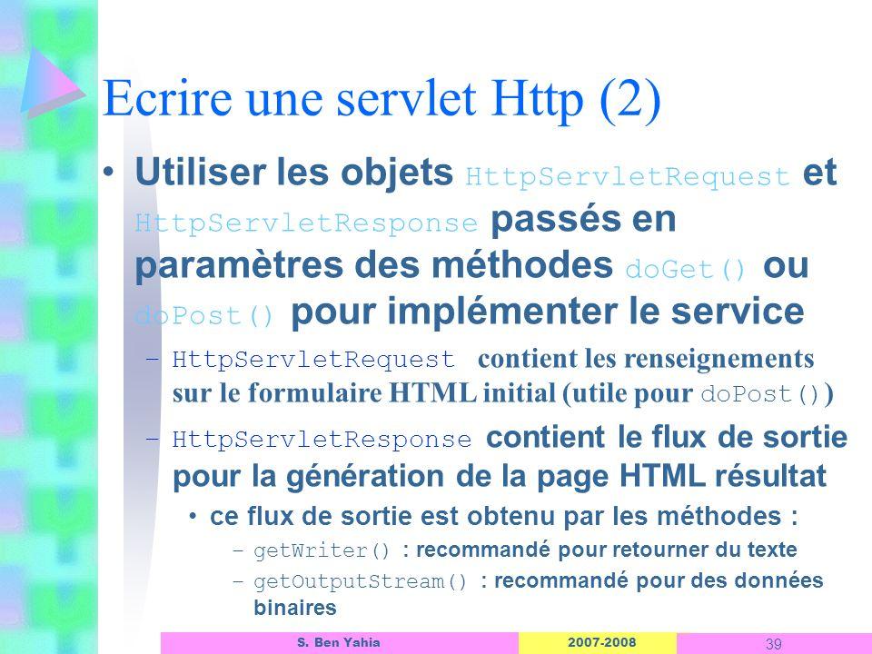 Ecrire une servlet Http (2)