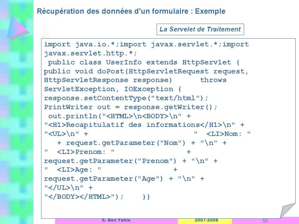 Récupération des données d un formulaire : Exemple