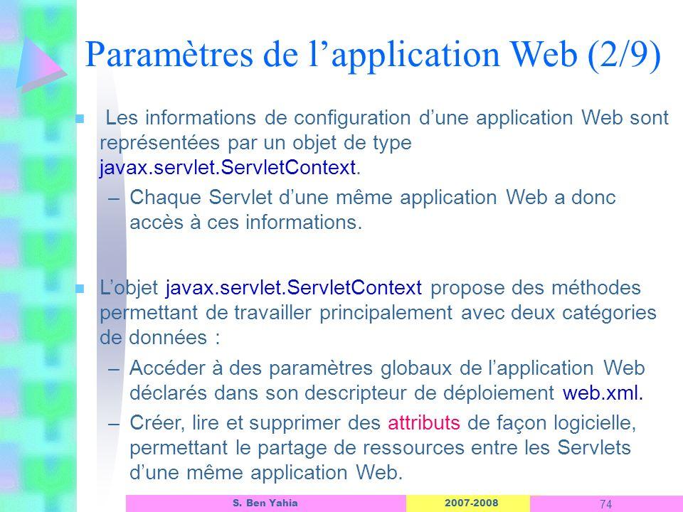 Paramètres de l'application Web (2/9)
