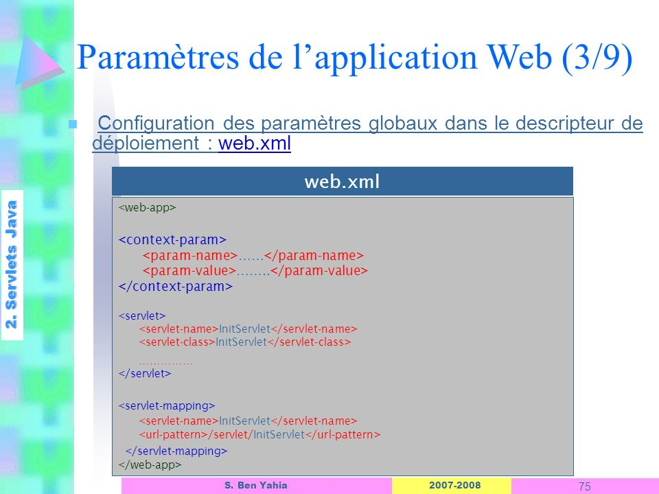 Paramètres de l'application Web (3/9)