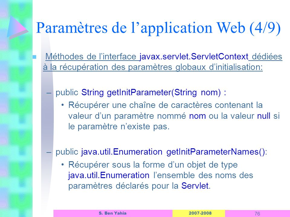Paramètres de l'application Web (4/9)
