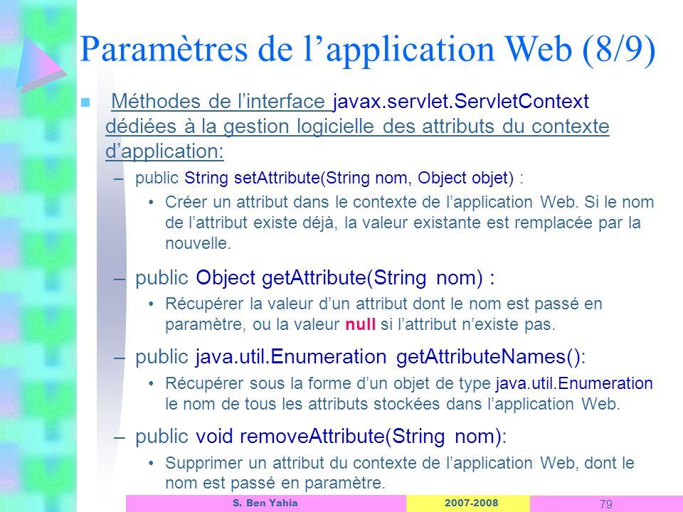 Paramètres de l'application Web (8/9)