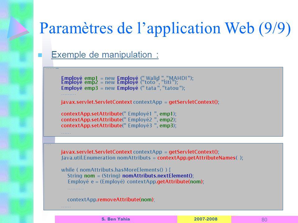 Paramètres de l'application Web (9/9)