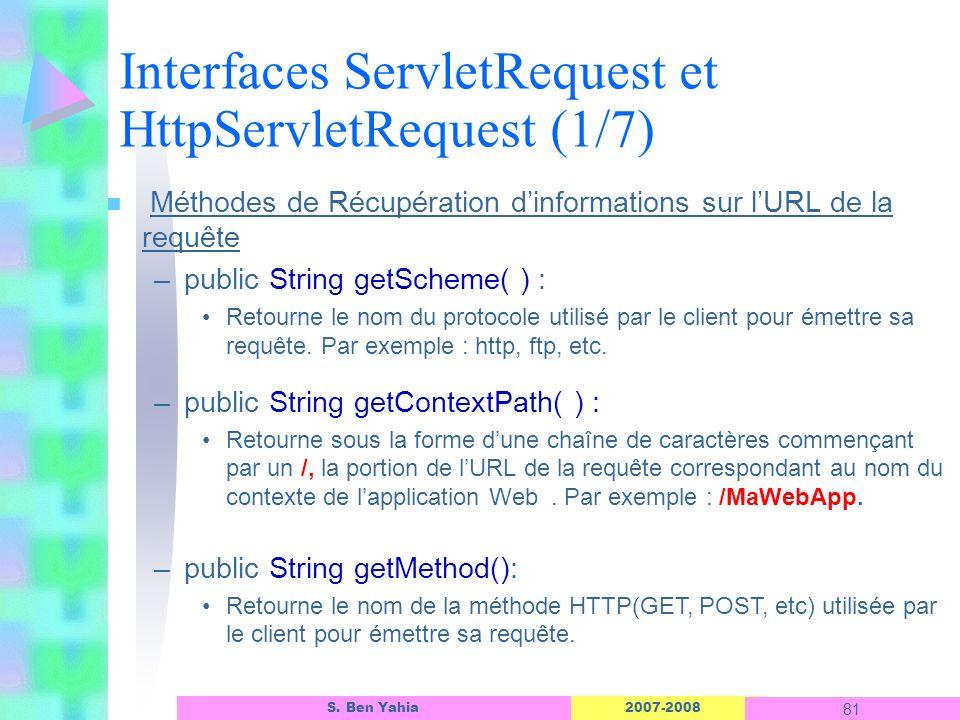 Interfaces ServletRequest et HttpServletRequest (1/7)