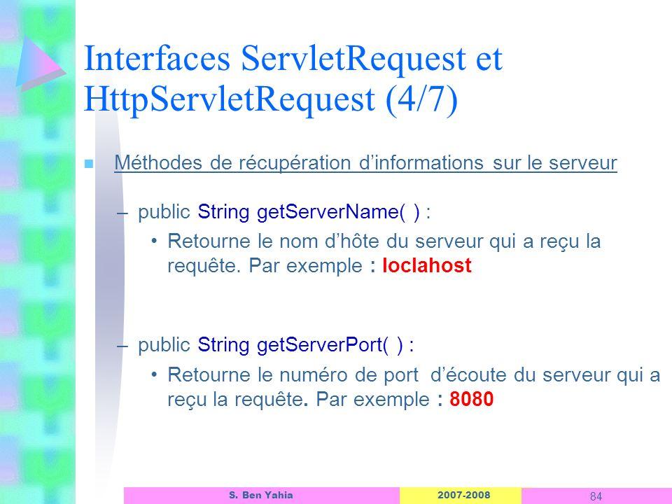 Interfaces ServletRequest et HttpServletRequest (4/7)