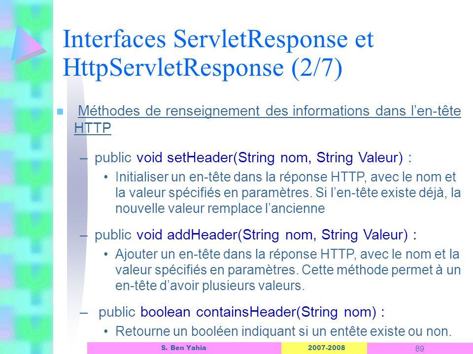 Interfaces ServletResponse et HttpServletResponse (2/7)