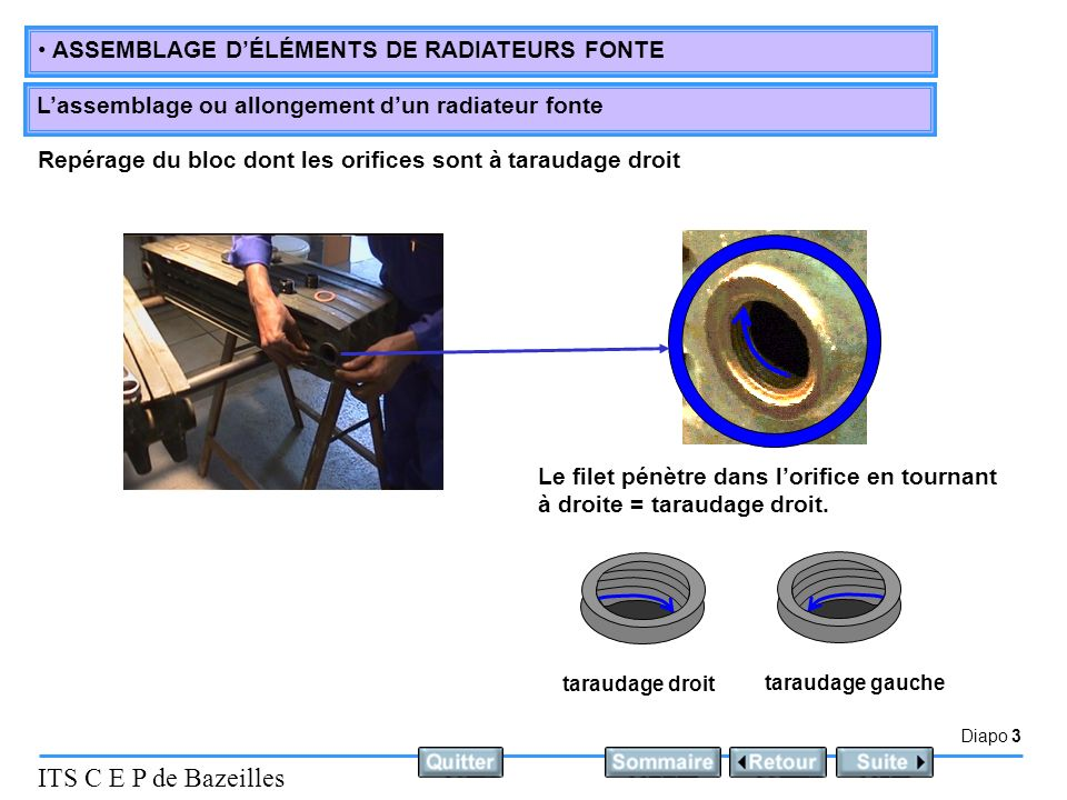 D finition l assemblage ou allongement d un radiateur for Purger les radiateurs en fonte