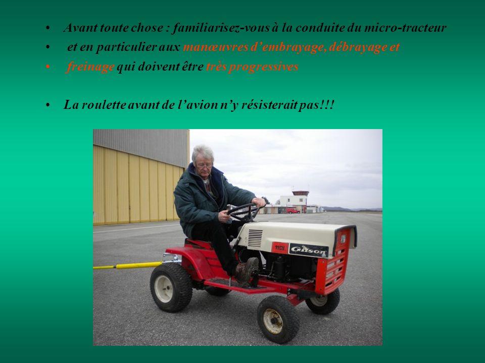Avant toute chose : familiarisez-vous à la conduite du micro-tracteur