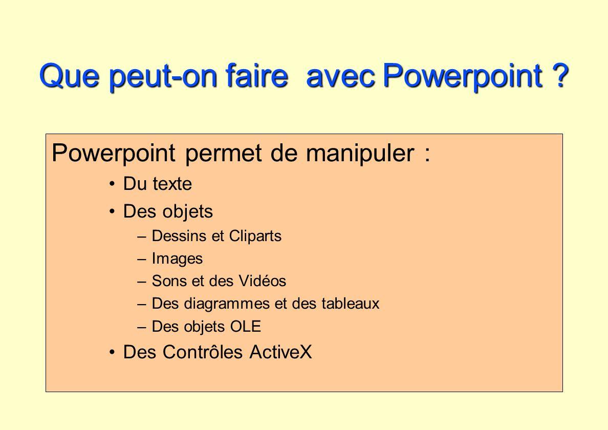 Que peut-on faire avec Powerpoint