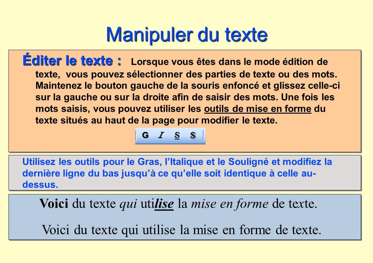 Manipuler du texte