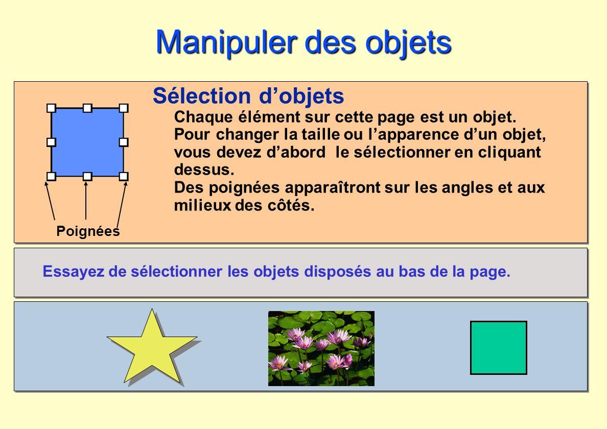 Manipuler des objets Sélection d'objets