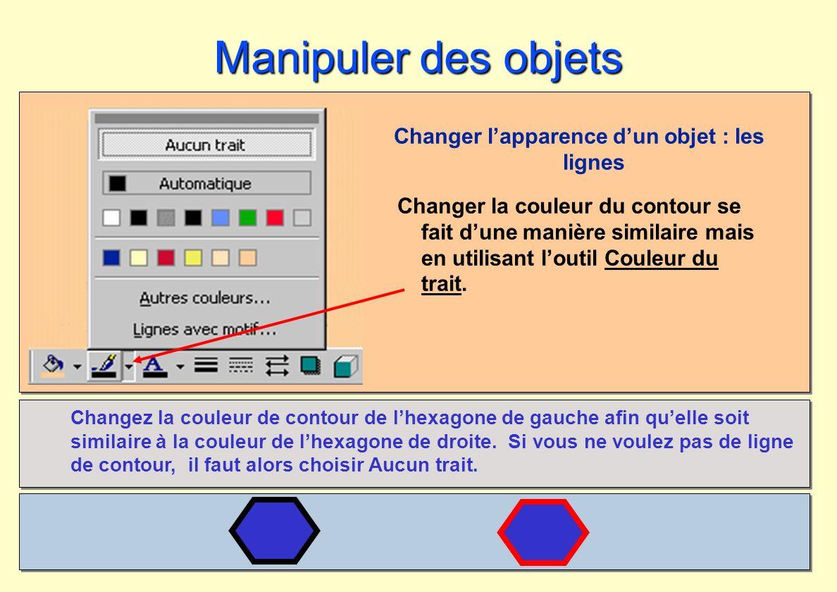 Changer l'apparence d'un objet : les lignes