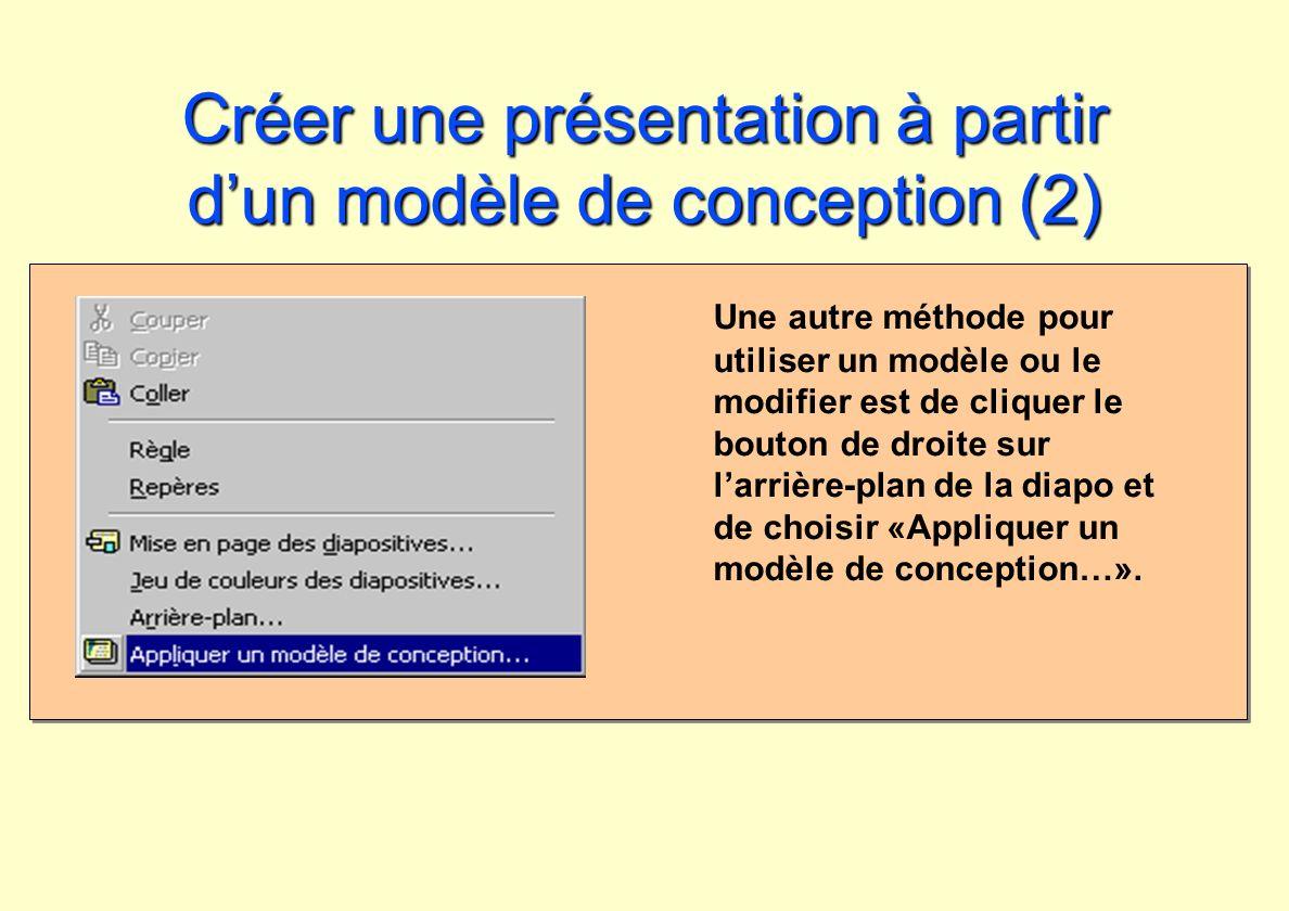 Créer une présentation à partir d'un modèle de conception (2)