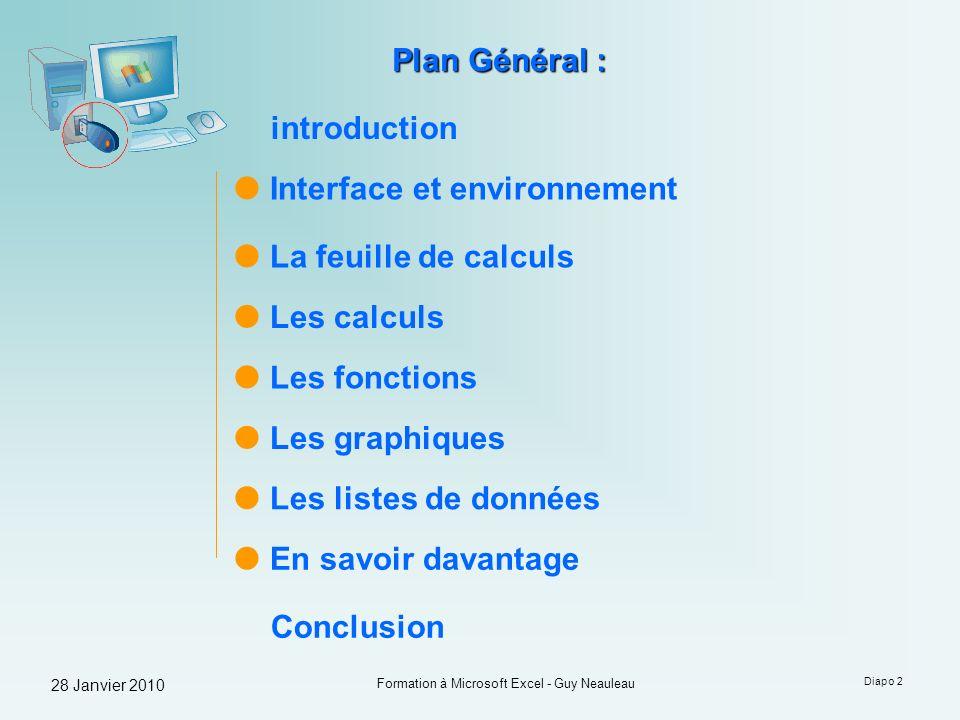 Formation à Microsoft Excel - Guy Neauleau