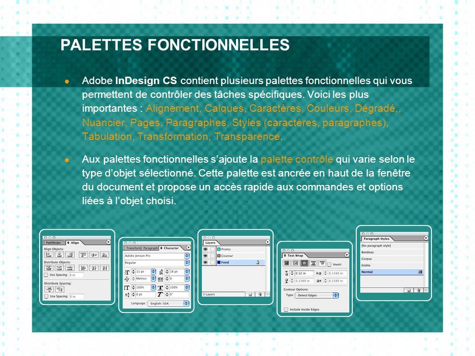 PALETTES FONCTIONNELLES