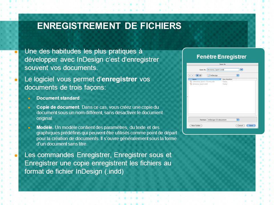 ENREGISTREMENT DE FICHIERS