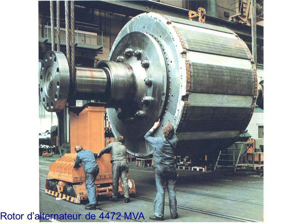 Rotor d'alternateur de 4472 MVA