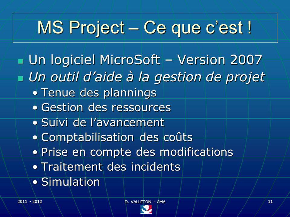 MS Project – Ce que c'est !
