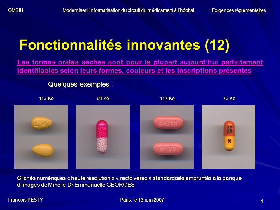 Fonctionnalités innovantes (12)