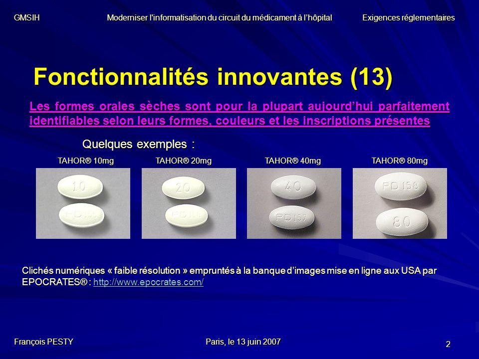 Fonctionnalités innovantes (13)