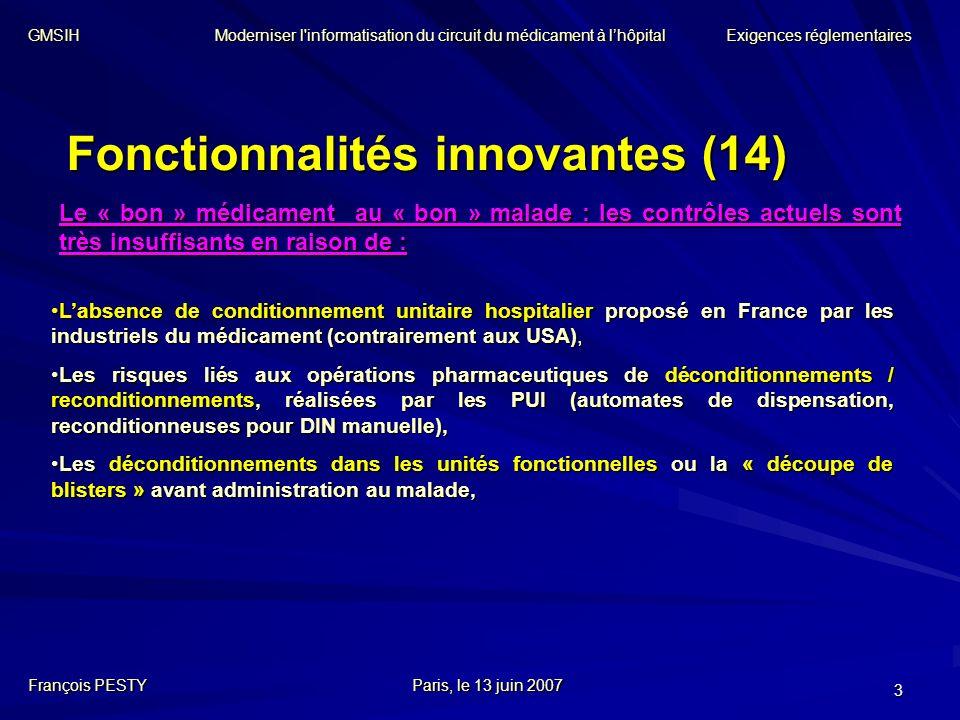 Fonctionnalités innovantes (14)