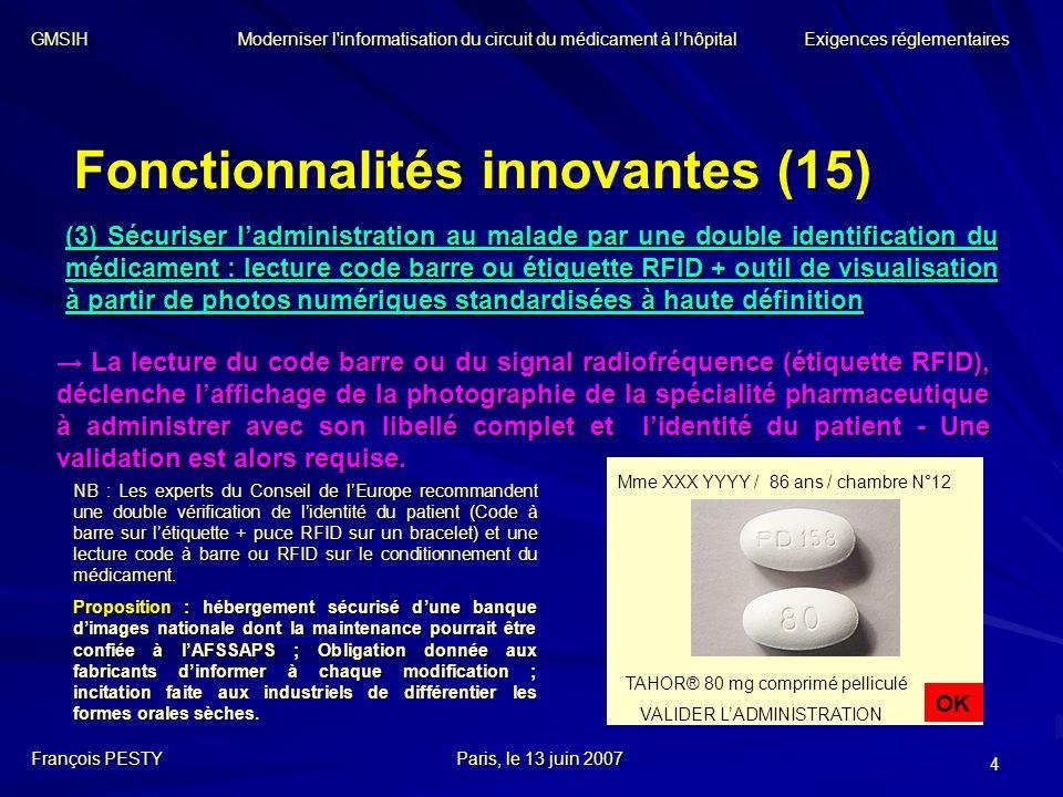 Fonctionnalités innovantes (15)