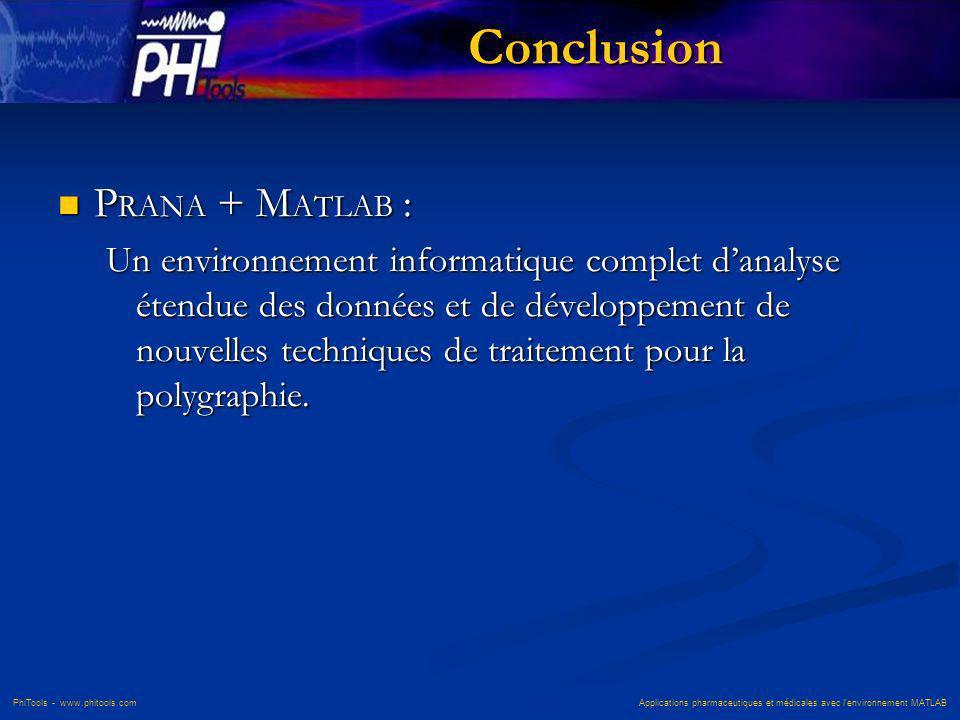 Conclusion PRANA + MATLAB :