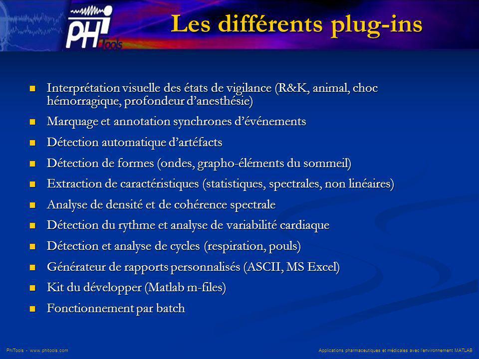 Les différents plug-ins