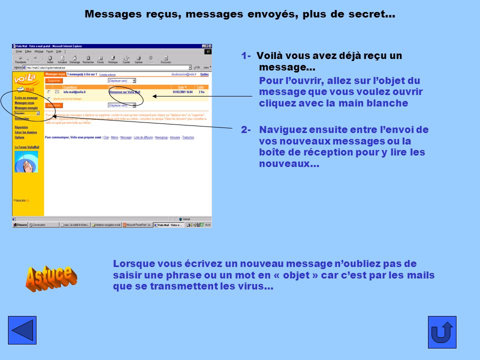 Messages reçus, messages envoyés, plus de secret…