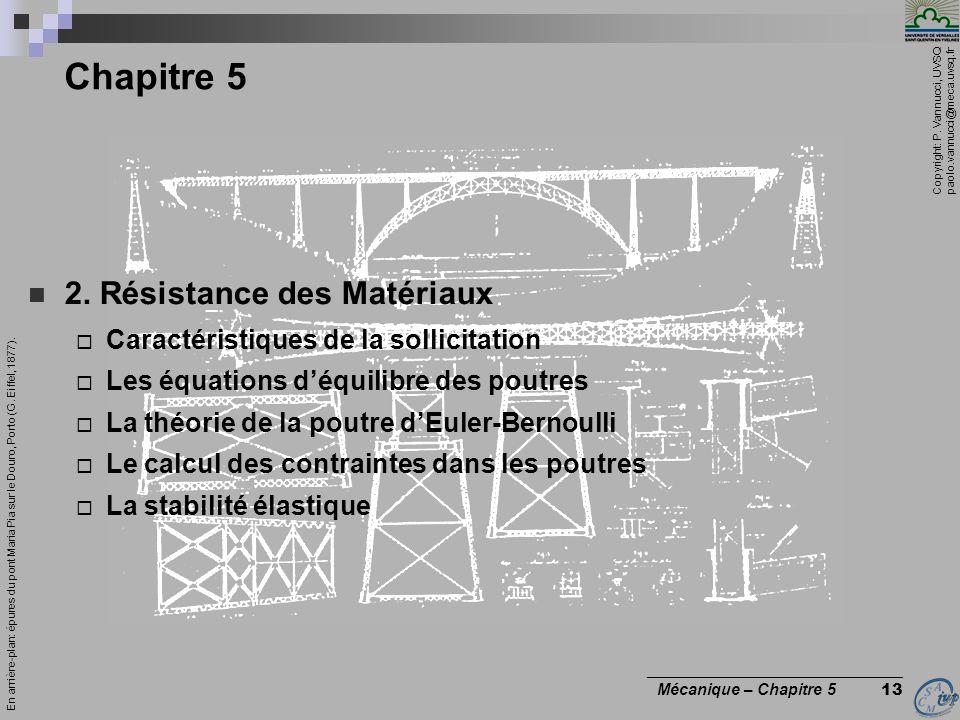Chapitre 5 2. Résistance des Matériaux