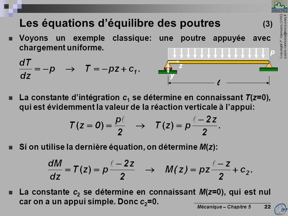 Les équations d'équilibre des poutres (3)