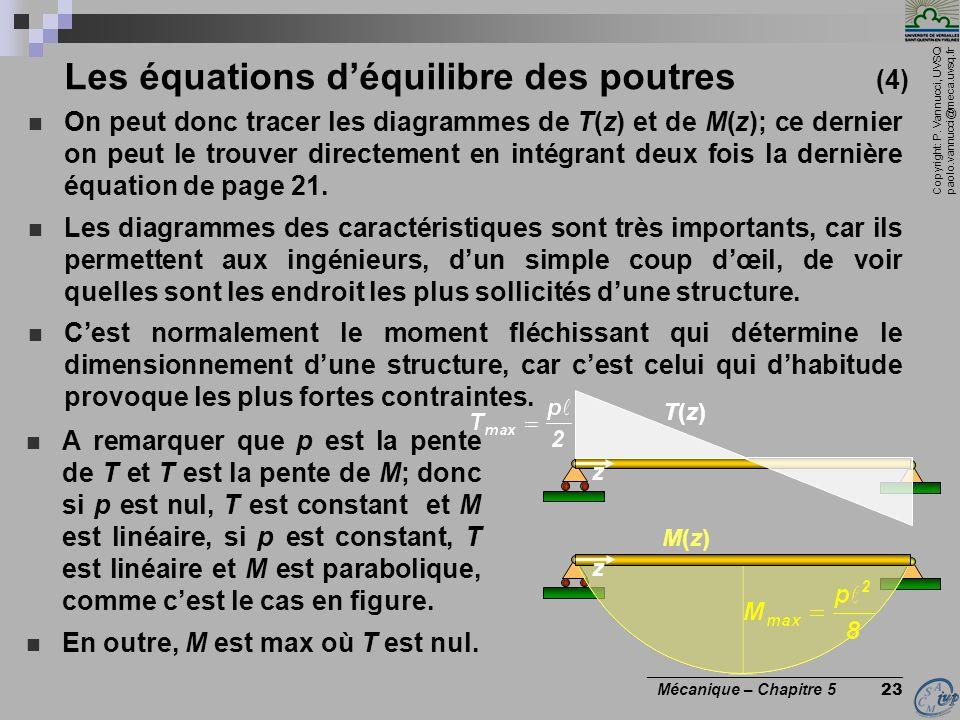 Les équations d'équilibre des poutres (4)