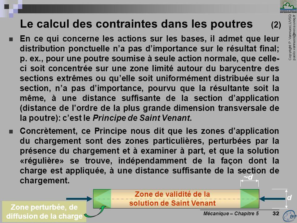 Le calcul des contraintes dans les poutres (2)