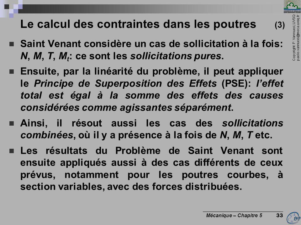 Le calcul des contraintes dans les poutres (3)