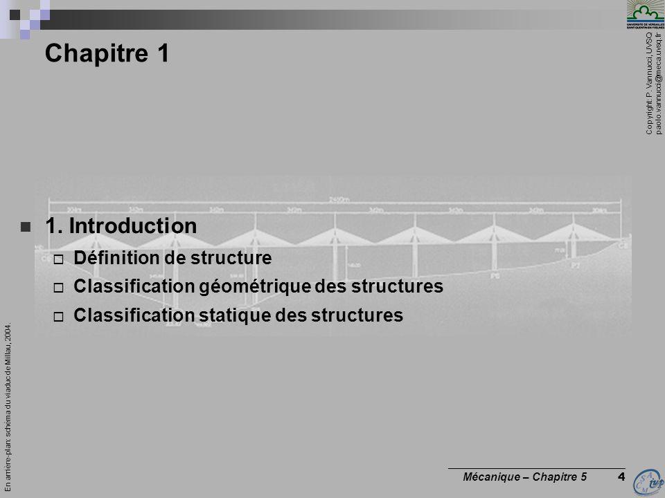 Chapitre 1 1. Introduction Définition de structure