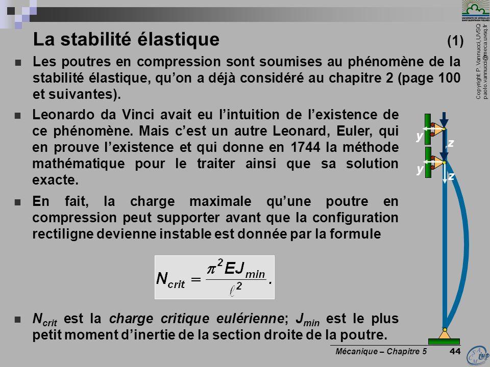 La stabilité élastique (1)