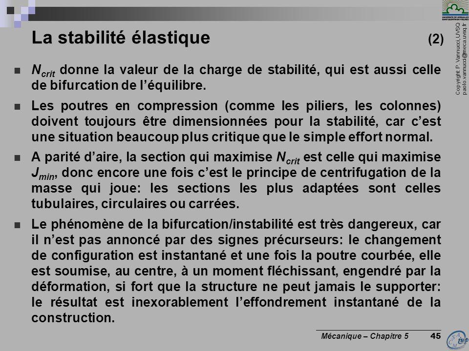 La stabilité élastique (2)