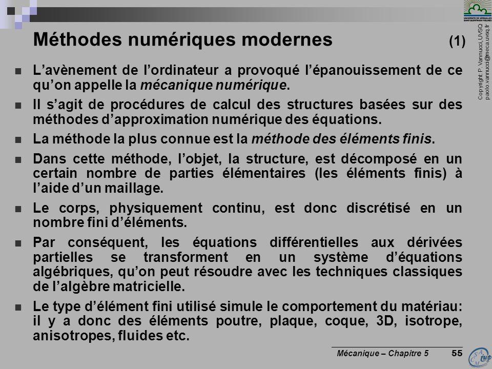 Méthodes numériques modernes (1)
