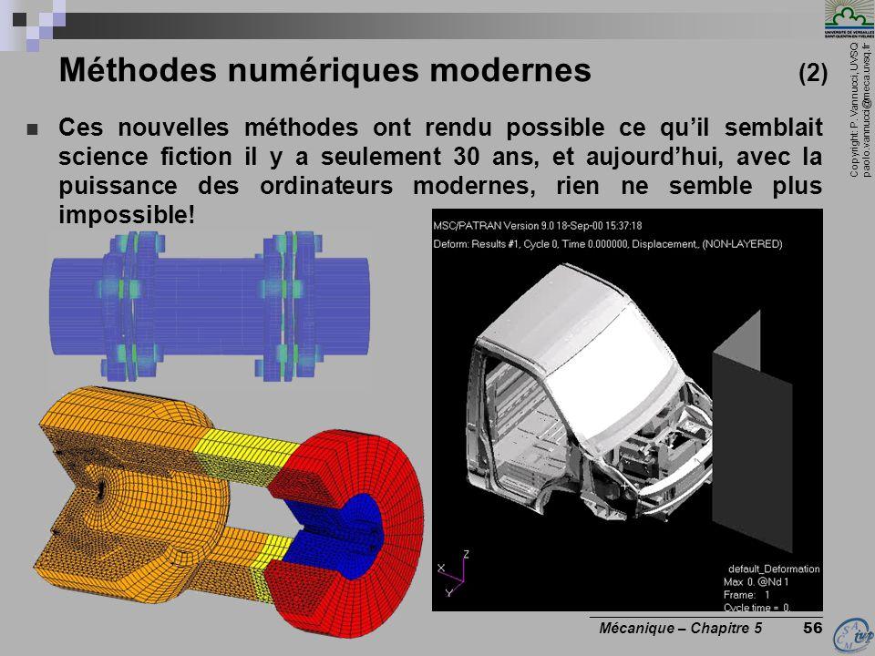 Méthodes numériques modernes (2)