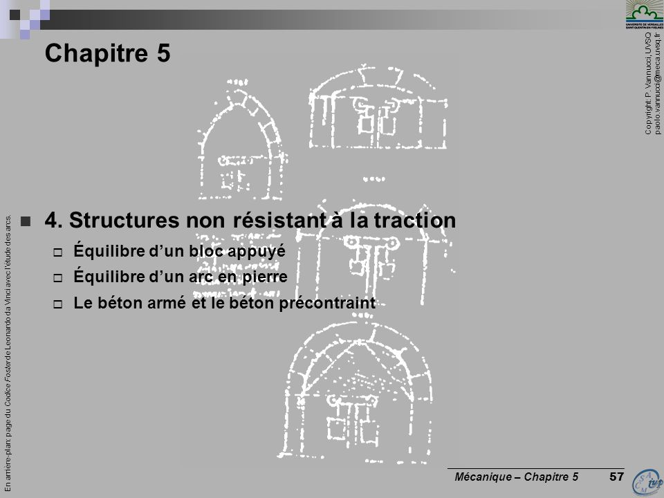 Chapitre 5 4. Structures non résistant à la traction