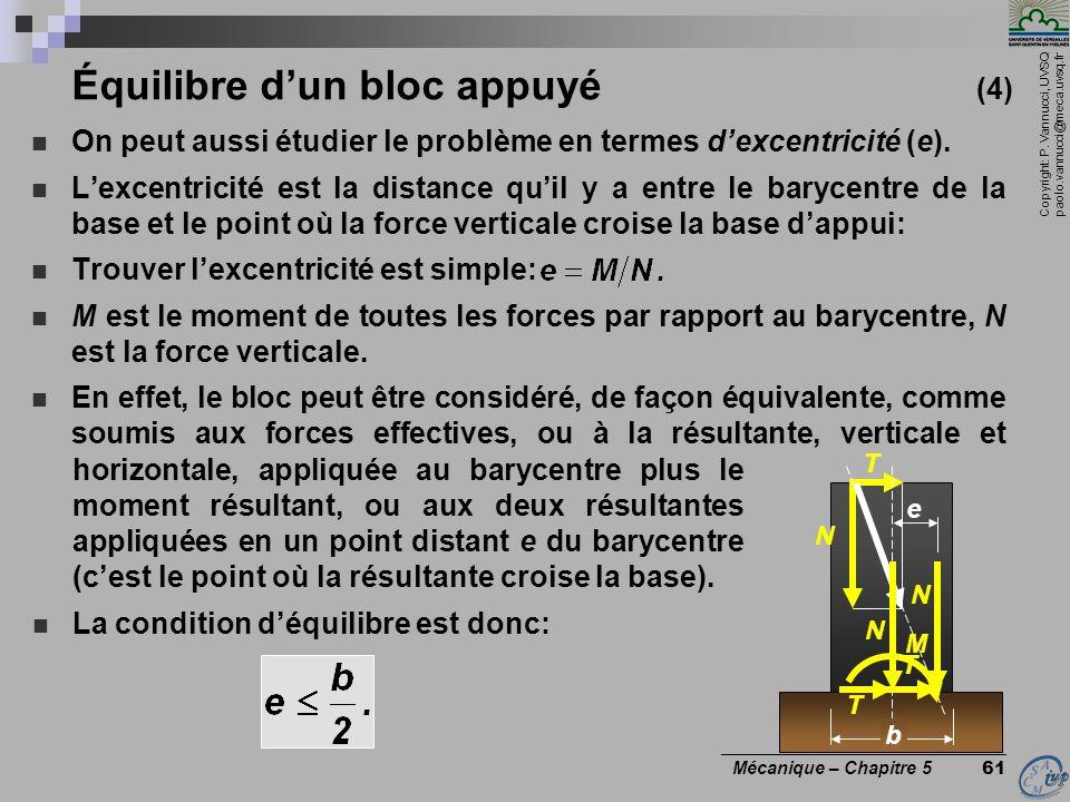 Équilibre d'un bloc appuyé (4)